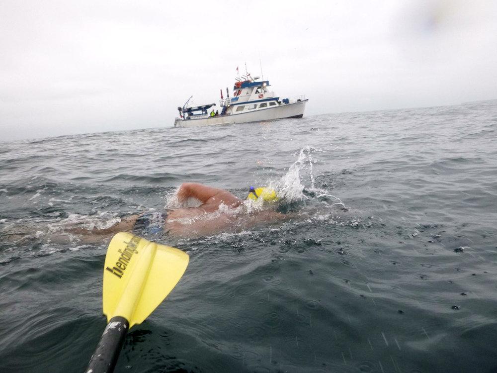 Dean swimming