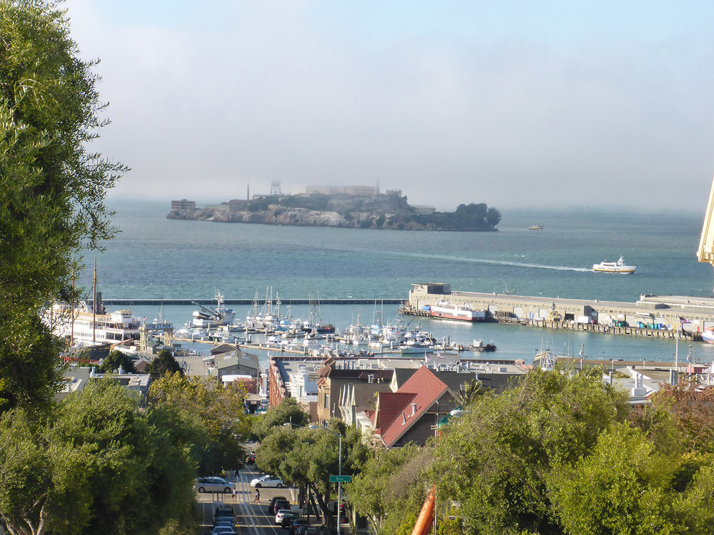 Alcatraz (Swim Around the Rock)  - WHERE:  From St. Francis beach, clockwise around Alcatraz to Aquatic Park, San Francisco, USA.DISTANCE:  5.6 kilometresTEMPERATURE:  14ºCTIME:  2 hours 17 minutesWHEN:  14 August 2016This swim, run by Water World Swim, is a great challenge that requires a strategic race plan to make it through the tide and fast currents around Alcatraz. It not only requires swimming strength and experience, but expert ability in navigating a direct course with the complex currents. Due to the difficulty of swimming against the tide, this swim is pegged as more challenging than Water Worlds Bridge to Bridge 10km event.READ JOURNAL