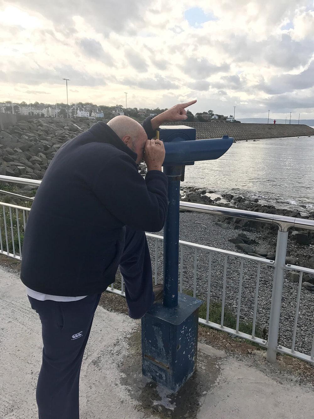 Scotland that way!