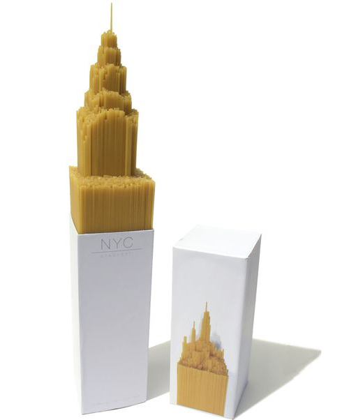 NYC SPAGHETTI PACKAGING (ABOVE)   Award winning work by Alex Creamer (final year Graphics student).