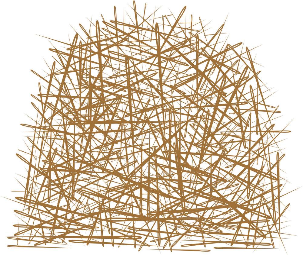 A haystack
