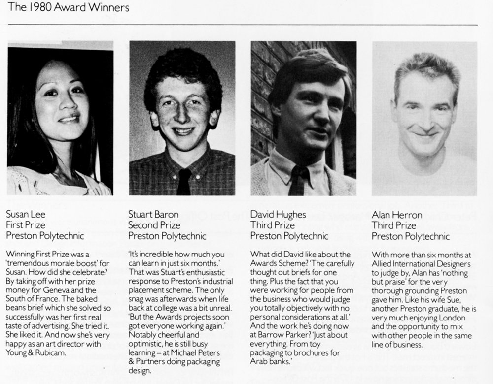 Some of the winners from the class of 1980.