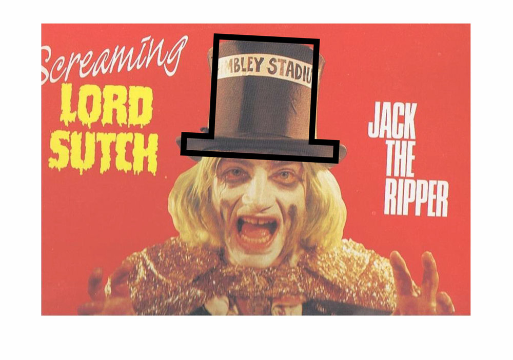 Identity - Referencing Screaming Lord Sutch's (founder of the MRLP) iconic top hat
