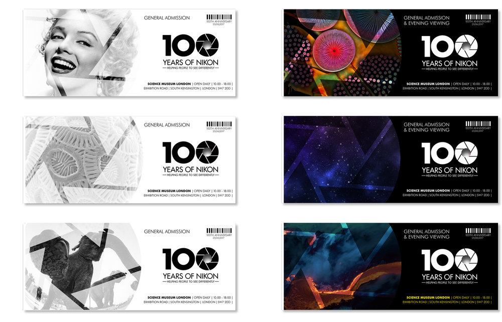 Exhibition ticket designs
