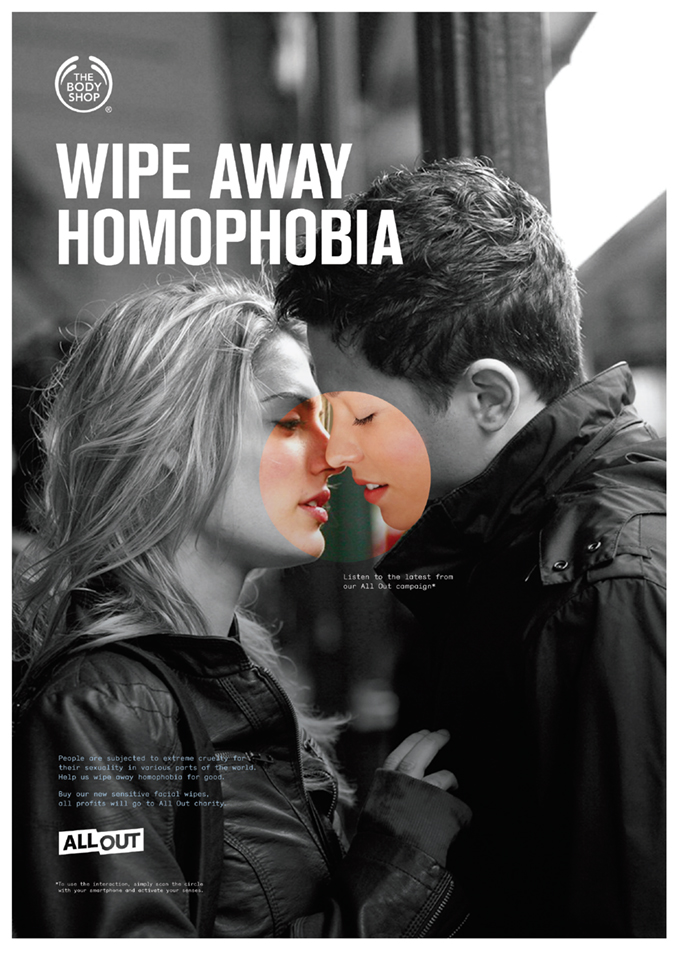 Issues - The sound sense is Body Shop's voice. Listen to the campaign on gay rights & vice your views by uploading them.