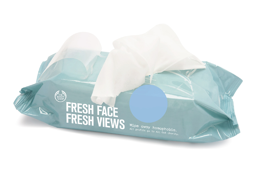 A range of facial wipes that will be the leading product for the campaign.