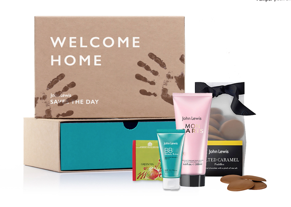 Pre-order a special pamper pack to be delivered on your return home
