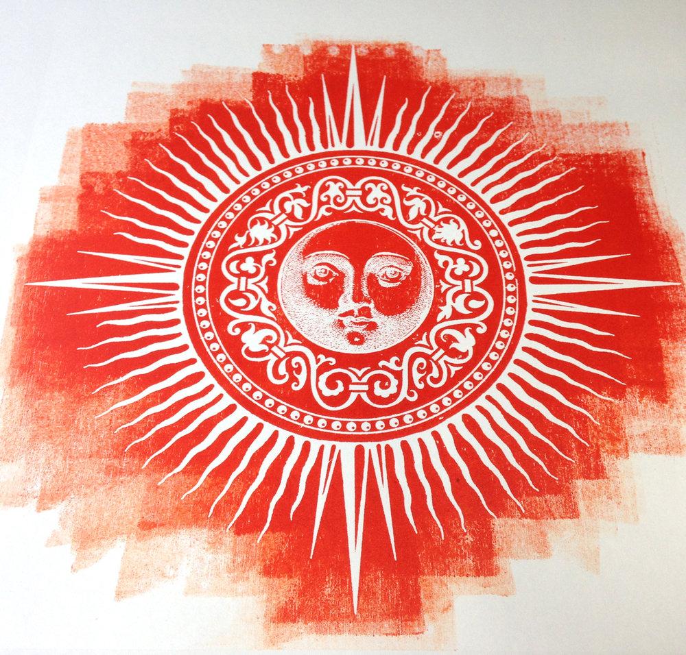 Final Print - White Sun