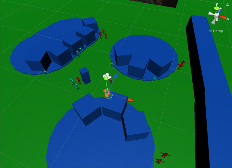 View of the level layout from the editor