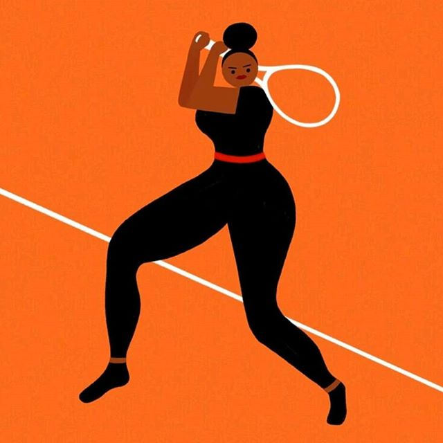 @serenawilliams superhero #rolandgarros