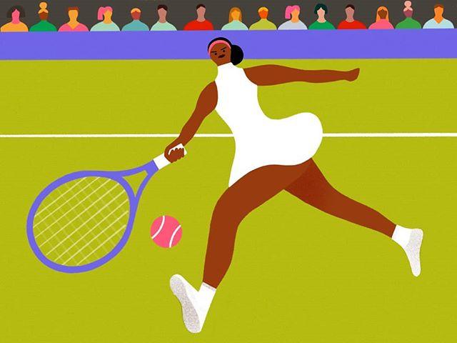 Love Serena. Love tennis. Love  Wimbledon.