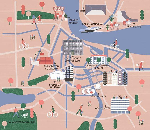 Really enjoyed doing this map for @sohohouse magazine House Notes! Thanks @niklasjuli