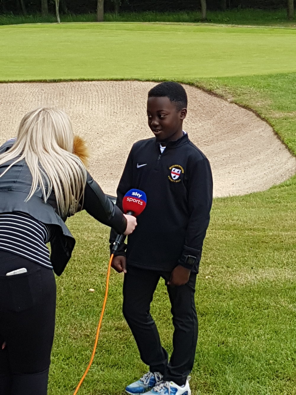 2018 SarfoGolf filming on Father's Day with Kirsty Edwards Sky Sports