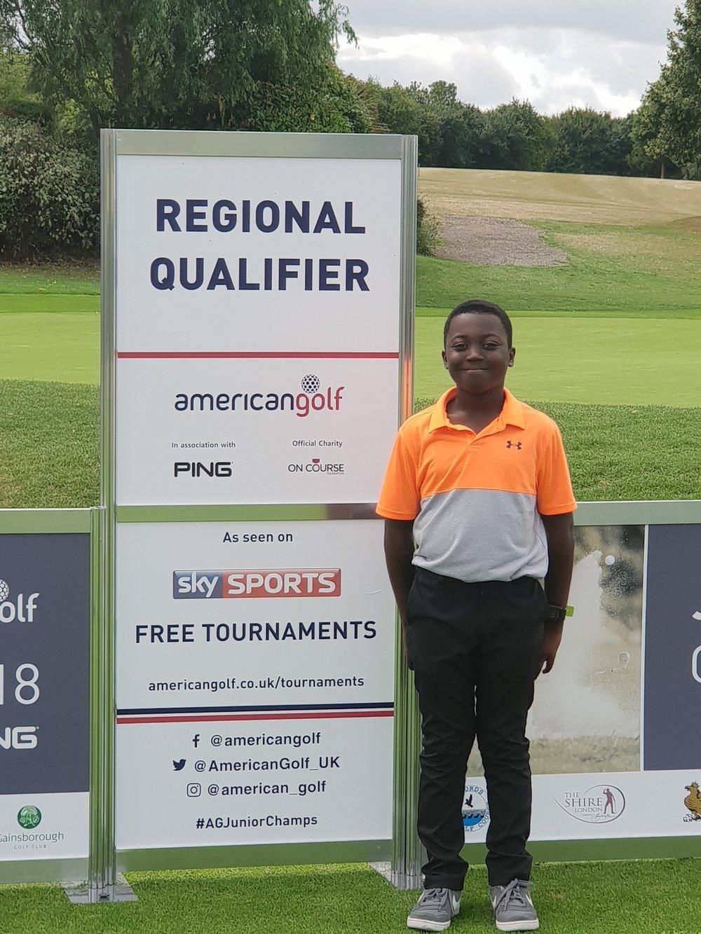 2018 'Winner' Regional Qualifier 'Future Stars' 7-8 age group Junior Regional Championships American Golf - Gaudet Luce GC