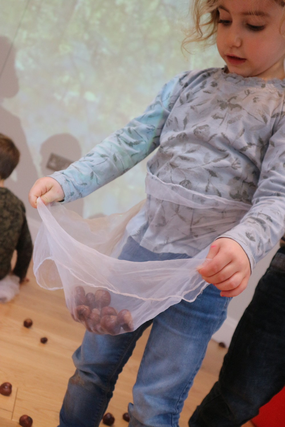 Conker aprons - Making a home for our forest treasures