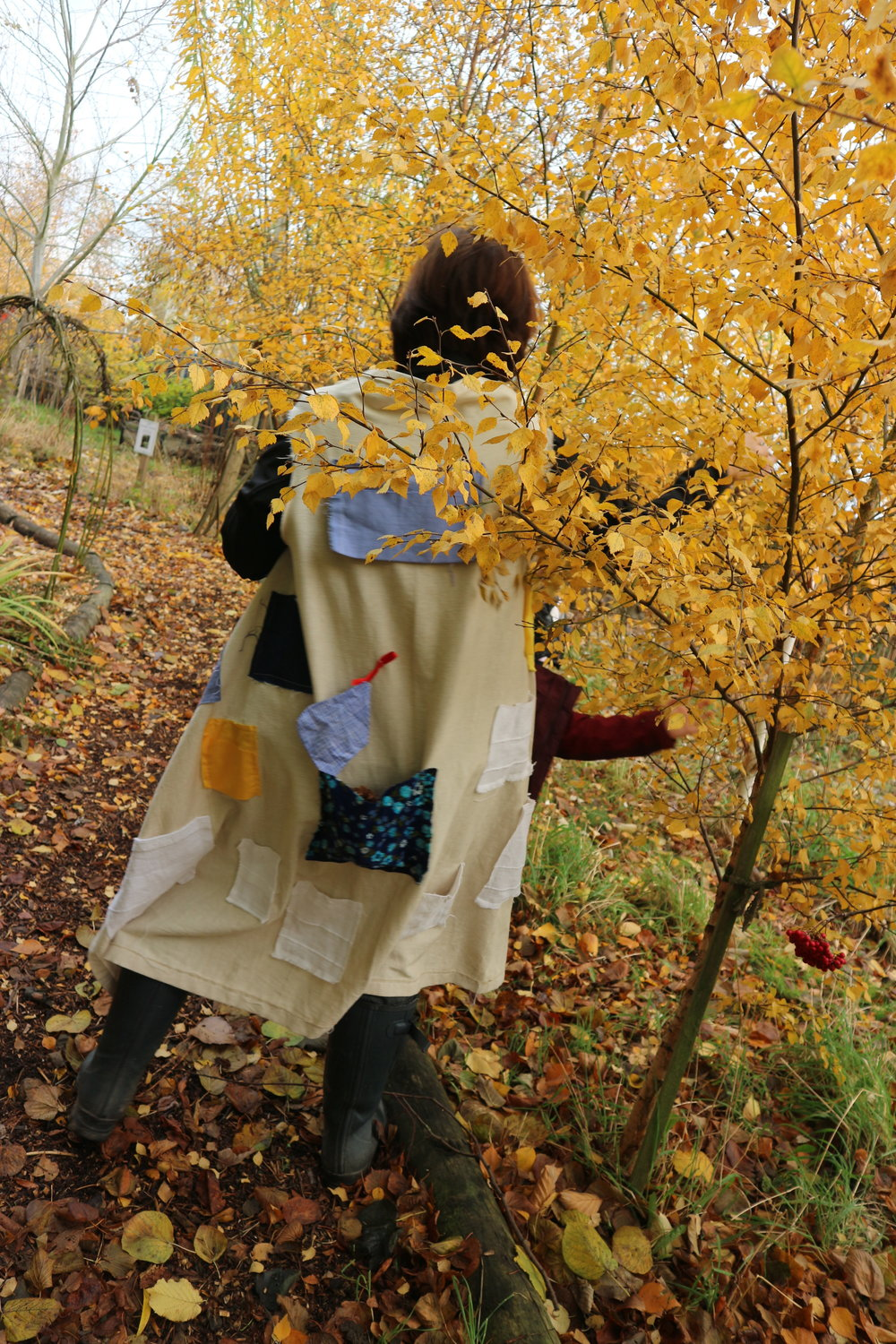 Finding autumn treasures - For the pocket coat, and for our dancing….what can you find?