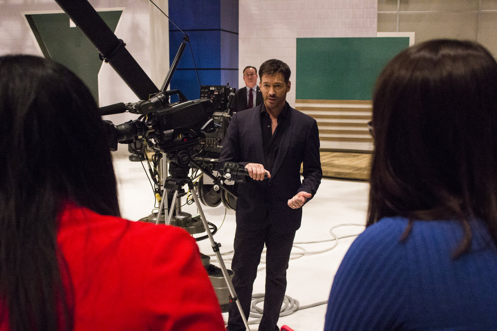 CENCOM EVENT:  Harry Connick Jr gives students advice.