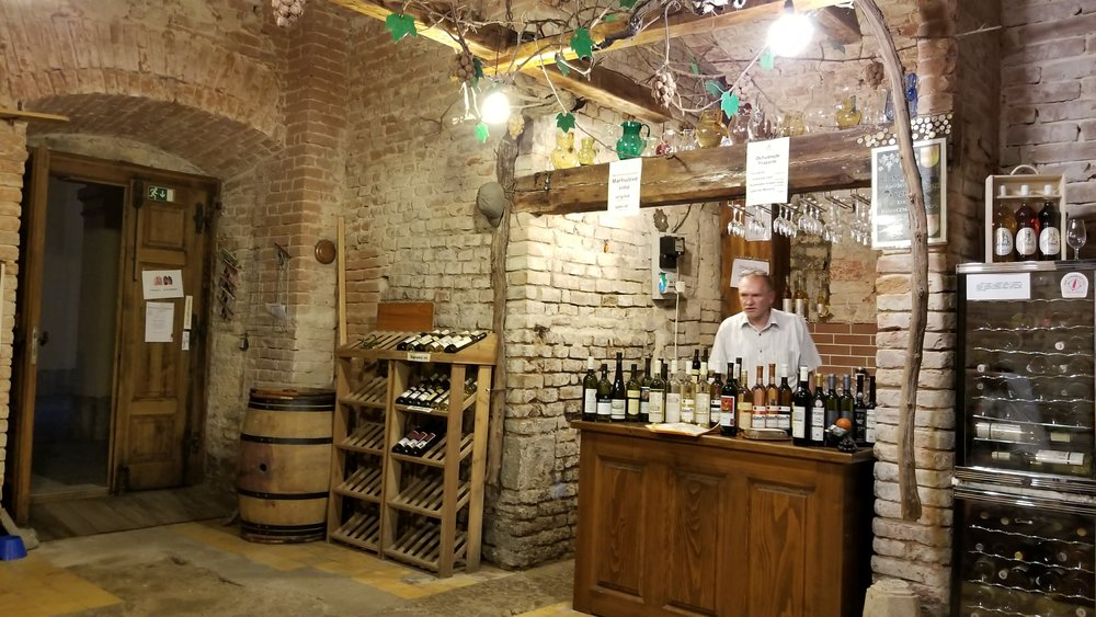 A Vinotéka (wine shop) in Valtice
