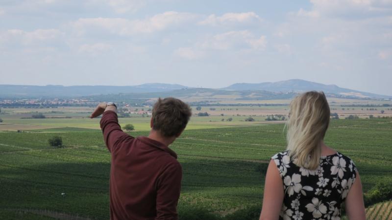 Overlooking Velke Bilovice
