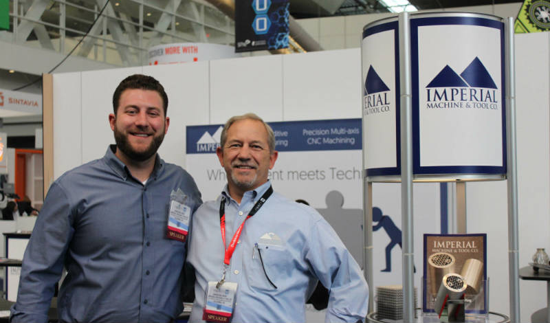 Christian M. Joest (Right) with his son Christian G. Joest at Imperial Machine & Tool Co.'s 2017 RAPID Booth in Pittsburgh, PA