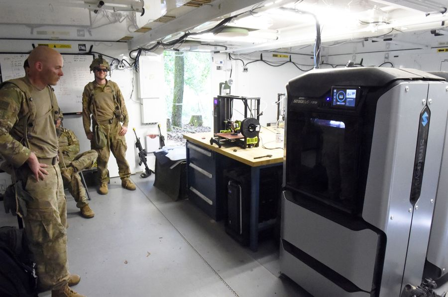 Inside the R-FAB unit at the Combined Resolve exercise in Germany