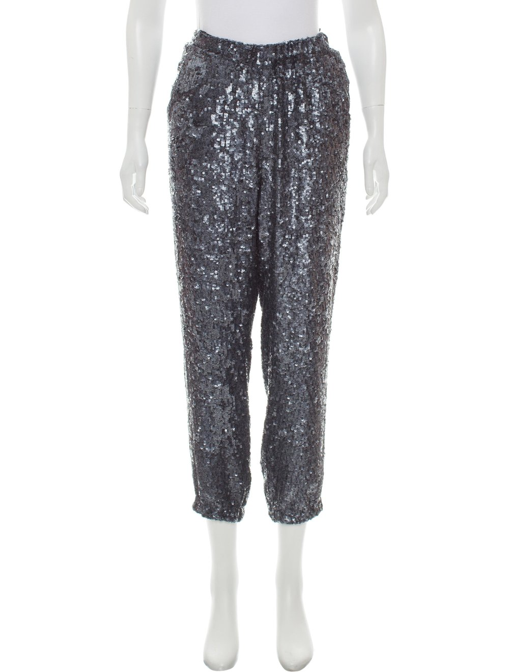J. Crew Sequined High-Rise Pants