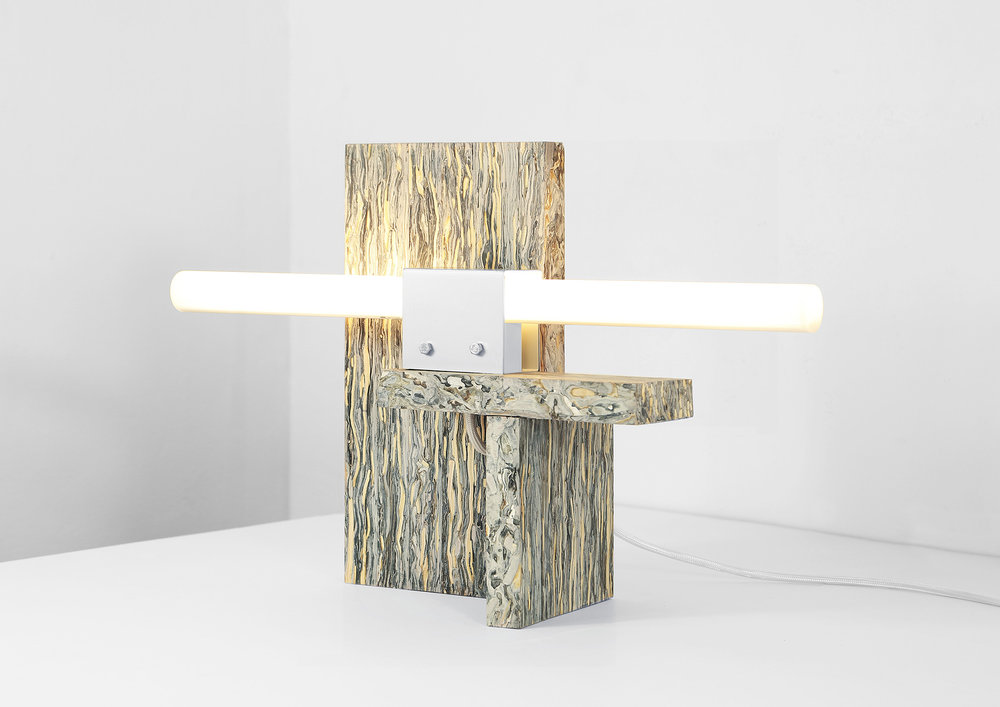Structural Skin Table Lamp no.03 by Jorges Penadés