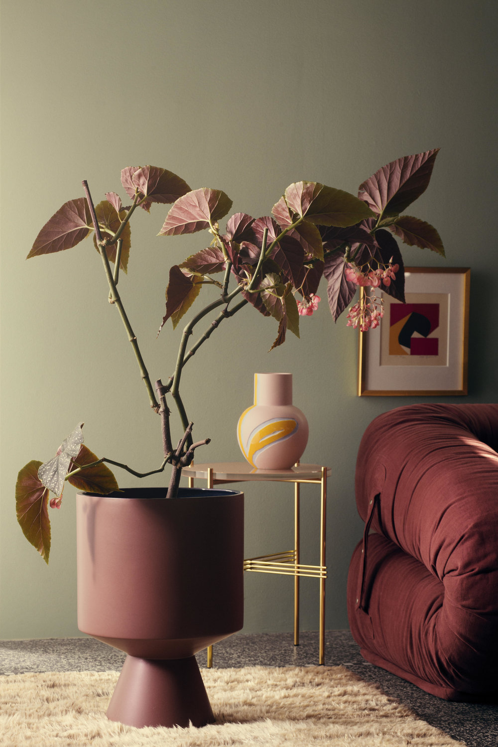 Flora Floor Pot by Stine Goya for Kähler Design