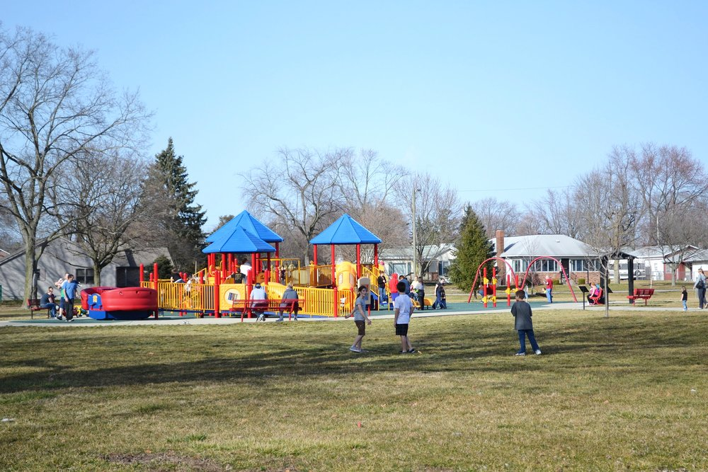 Serving all ages, stages, + abilities - BRCF worked with the Shelbyville Parks Department and received a $160,000 grant from the Kellogg Foundation through its Access to Recreation Initiative to build an accessible playground in Kennedy Park.