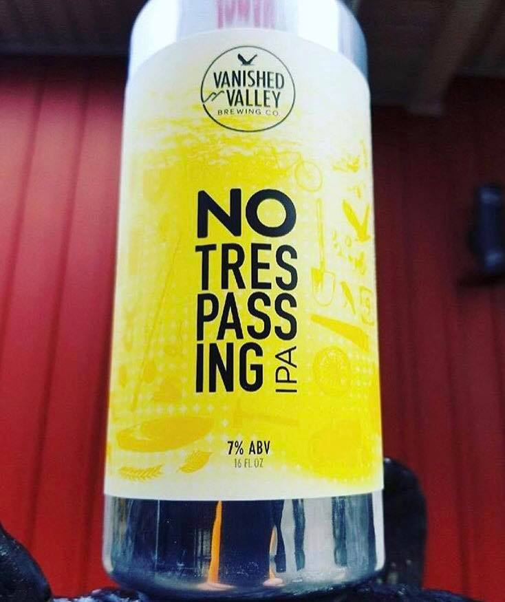 No Trespassing IPA, 7% ABV   We loved it so much we just had to bring it back! No Trespassing IPA, aka XPerimental Batch #9, offers a variety of tropical flavors and aromas including citrus and melon. This one's here to stay!