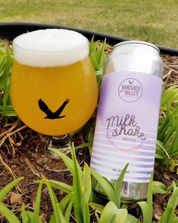 Peaches & Juniper Berry Milkshake IPA   This Peach and Juniper Berry Milkshake IPA clocks in at 6.5% ABV and provides a blast of peach aromas and favors along with mellow piney notes. As for the mouthfeel, three words....creamy, smooth, and soft!