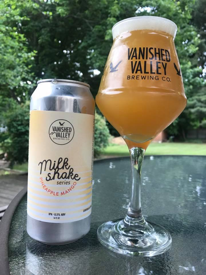 Pineapple Mango Milkshake IPA   This is our third offering within our Milkshake IPA Series and we can't be more stoke about how this one came out! With an ABV of 6.5% it was brewed with some exciting domestic hops, lactose, and then conditioned on vanilla beans, pineapple, and mangos! It provides aromas of pineapple juice then gives way to a mango and citrus flavors that are then rounded out through the vanilla beans and an extremely soft mouthfeel.