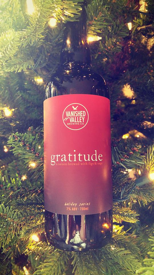 GRATITUDE 2017! We are very excited about tomorrow's sales day! In the spirit of this season and giving to others we have brewed a very special beer - gratitude, a Saison that has been brewed with figs and sage. We designed this 7% abv Saison to be paired beautifully with Thanksgiving dinner. It is meant to be shared and enjoyed with those that you are most thankful for.   We will also be donating a portion of the proceeds from each bottle sale to the  Friends of Quabbin , a non-profit volunteer organization dedicated to increasing public awareness and appreciation of the unique natural and historical resources of the Quabbin Reservoir and Reservation.
