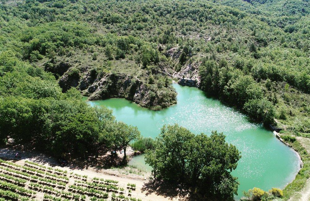 Private vissen zonder vergunning, op 500 meter van de camping, geen zwemmen