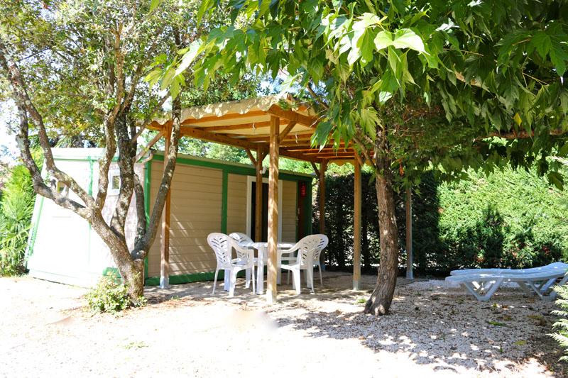 Camping Le Chamadou  toiles Sud Ardche Toboggan Aquatique