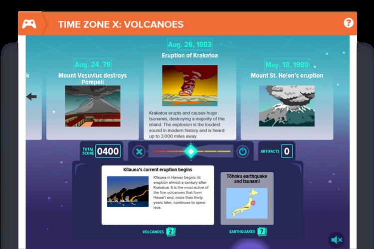 BrainPOP Time Zone X Volcanoes
