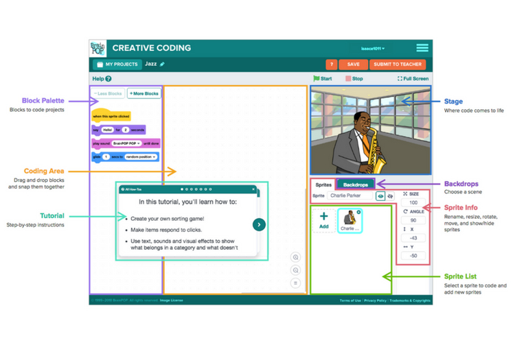 Scratch on BrainPOP