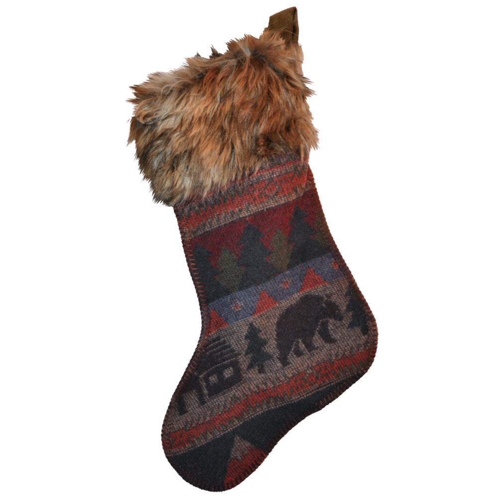 Cabin Bear Stocking - 14