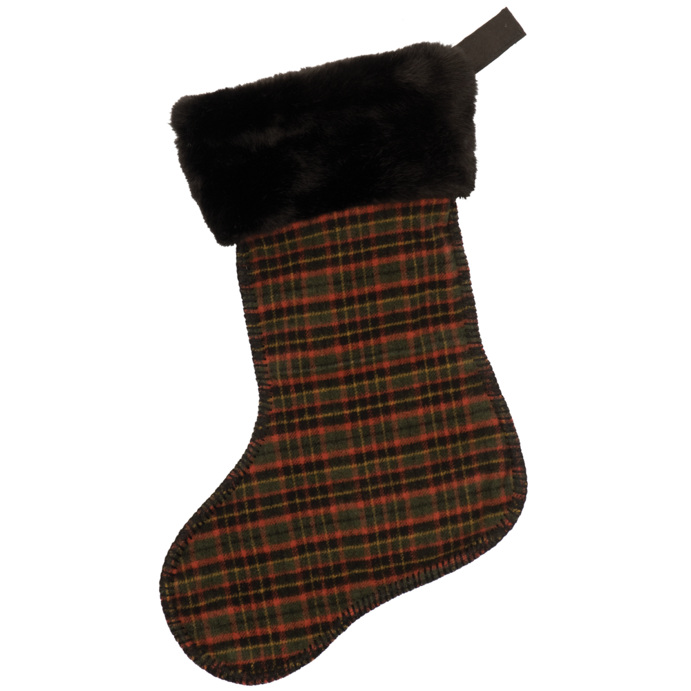 Wooded River Plaid 4 Stocking - 14