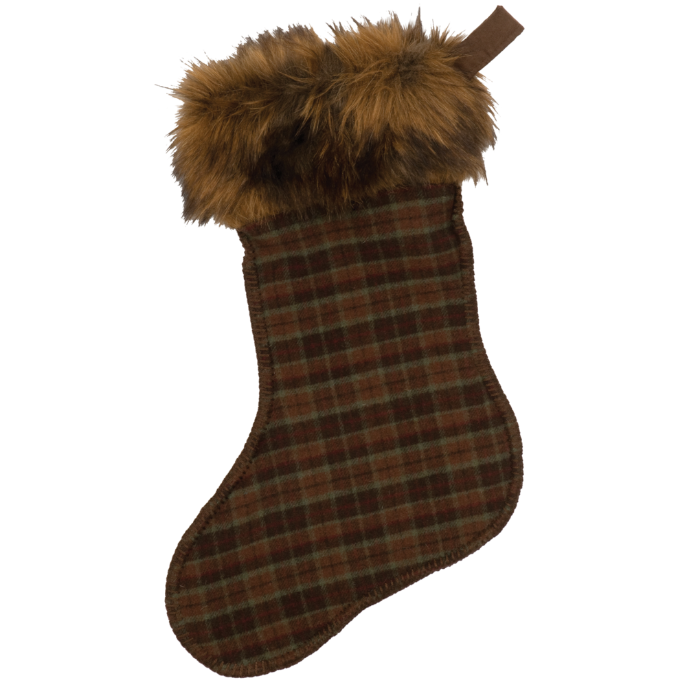 Wooded River Plaid 6 Stocking - 14