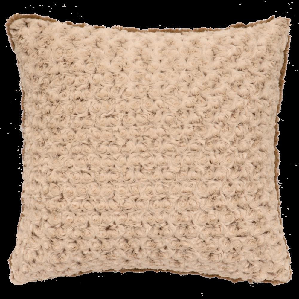 Bella Rosebud Cuddle Fur Pillow - 18