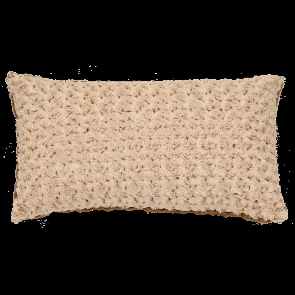 Bella Rosebud Cuddle Fur Pillow - 14