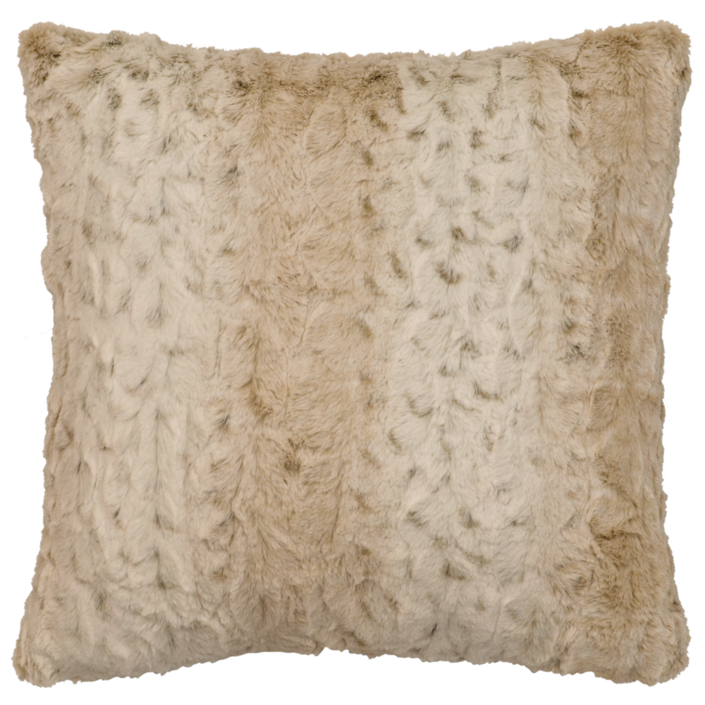Pearl Leopard Cuddle Fur Pillow - 18