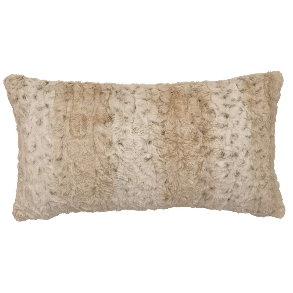 Pearl Leopard Cuddle Fur Pillow - 14