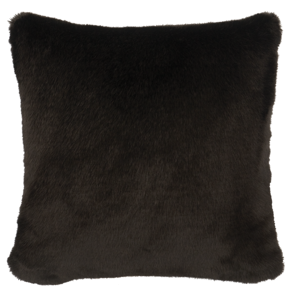 Black Sable Faux Fur Pillow - 18