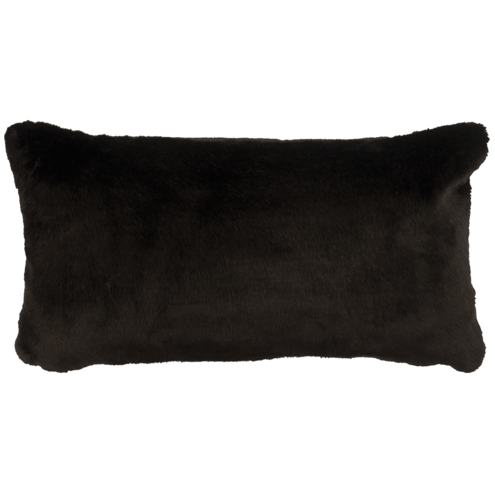 Black Sable Faux Fur Pillow - 14
