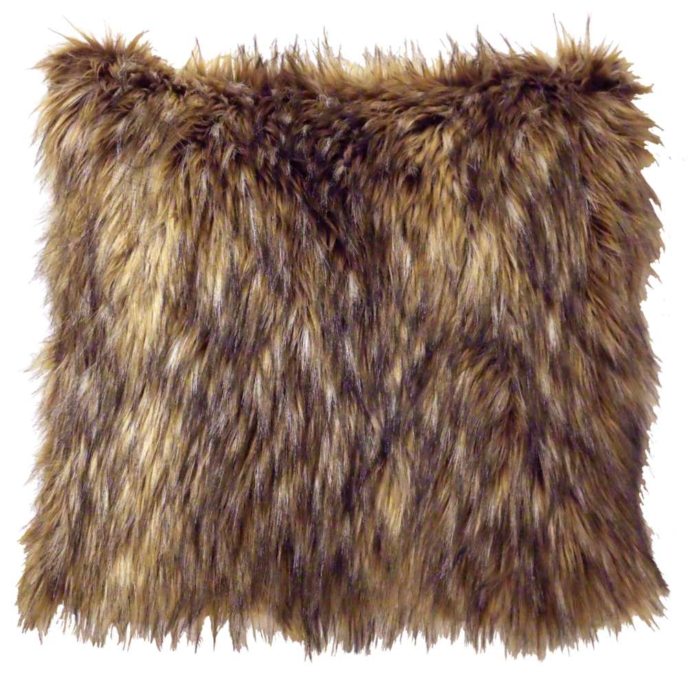 Coyote Faux Fur Pillow - 18