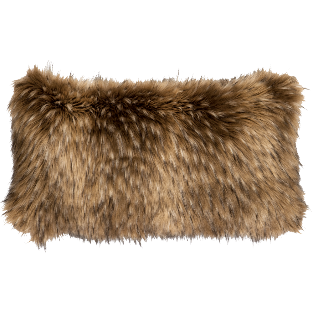 Coyote Faux Fur Pillow - 14
