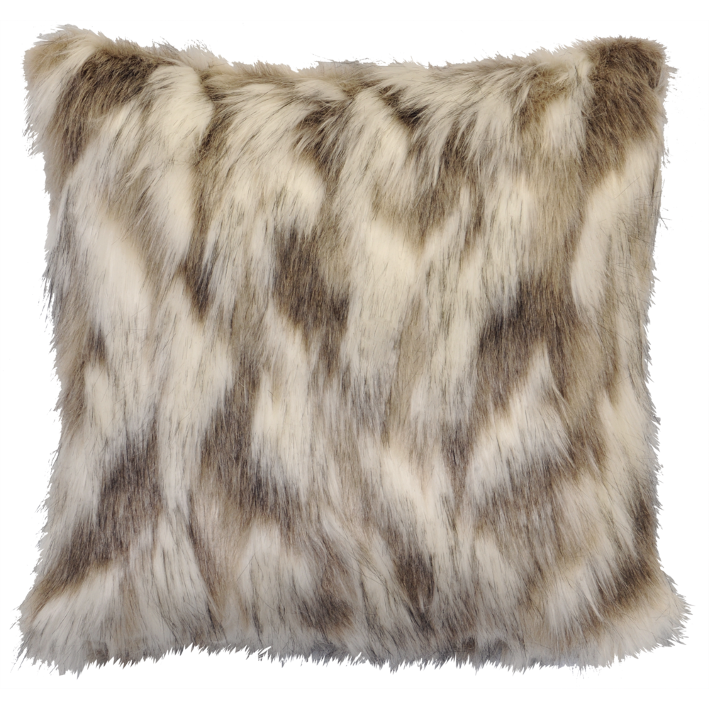 Tibetan Fox Faux Fur Pillow - 18