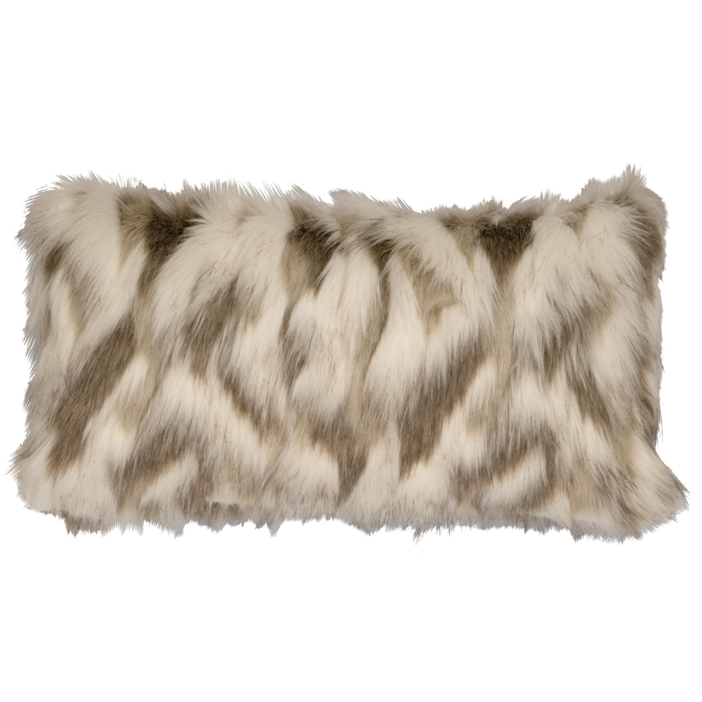 Tibetan Fox Faux Fur Pillow - 14